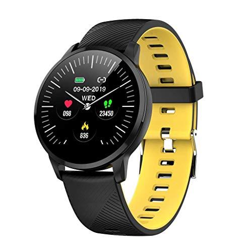 Smart Bracelet Watch with Heart Rate Waterproof S16 Fitness Tracker Activity Tracker GPS Bluetooth Sports Watch Sleep Monitor,Yellow