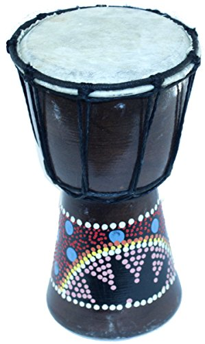Djembe-or-Jembe-Drum-With-With-colored-dots-from-Jerusalem-Large-size-30-cm-or-12-Inches-high-by-Holy-Land-Market