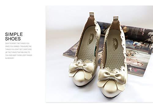 Yukun Talons hauts Talon Chaussures À Talon hauts Haut Stiletto Original pour Femme, 41, Blanc 35 Gold c8bbb7