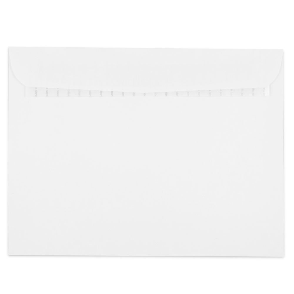 JAM PAPER 9 1/2 x 12 1/2 Booklet Commercial Envelopes with Peel and Seal Closure - White - 25/Pack JAM Paper & Envelope