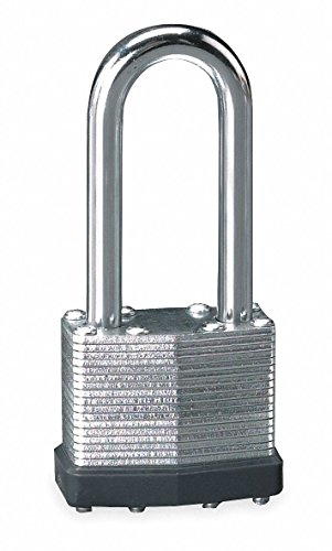 Different-Keyed Padlock, Extended Shackle Type, 2'' Shackle Height, Silver- Pack of 5 by Unknown (Image #1)