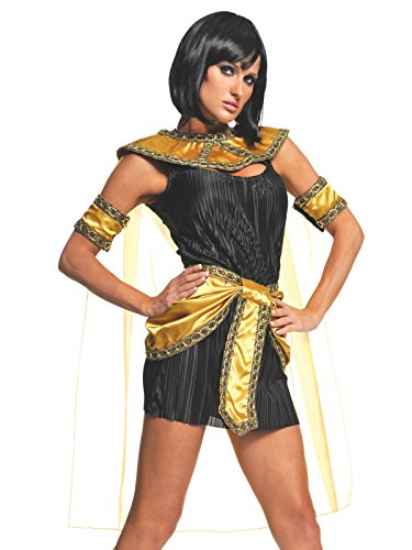 Sexy Egyptian Costume Mini Dress 2 Piece Set Womens