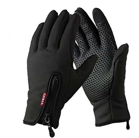 YYGIFT Touch Screen Gloves Outdoor Sports Winter Gloves Wind-Stopper for Men Women (Updated Version-Black, S)
