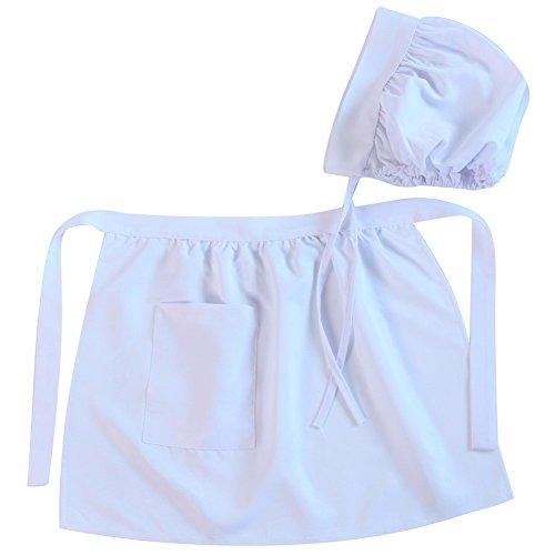 Making Believe Girls Puritan Colonial Basic Apron & Bonnet Set, Size: 4-8 Years -