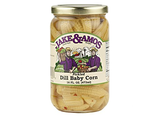 Jake & Amos Pickled Dill Baby Corn / 2 – 16 Oz. Jars For Sale