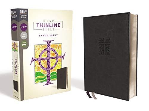 NRSV, Thinline Bible, Large Print, Leathersoft, Black, Comfort ()