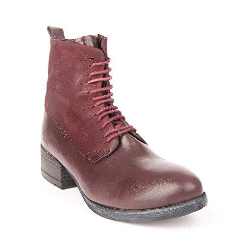Felmini - Chaussures Femme - Tomber en amour avec Raisa 9101 - Bottes Lacées - Genuine Cuir - Violet