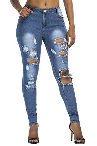 Yacun Sport Skinny Dchir Blue Jeans Femmes Jean Pantalons en 1r10qzgwx