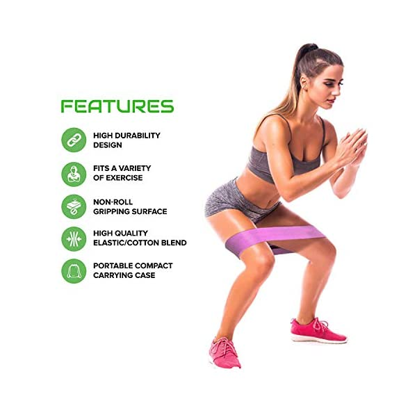 Cfx Resistance Bands 3 Sets Premium Exercise Loops With Non Slip Design For Hips Glutes 3 Resistance Level Workout Booty Bands For Women And Men Best For Home Fitness Yoga Pilates Halal