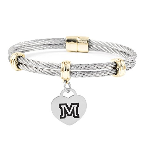 (Montana State Bobcats Charm Bracelet | Stainless Steel Magnetic Clasp Bangles)