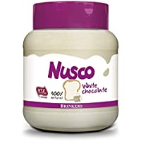 Nusco White Chocolate Spread 14.1oz/400g, Imported from Holland, 100% Natural, UTZ certified