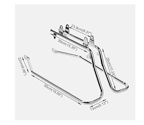 HK MOTO- Chrome Saddlebag Support Conversion Bracket kit For Harley Heritage Softail 1984-2013