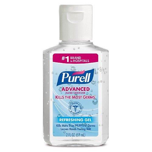 Purell instant hand sanitizer (9 bottles of 2 fl oz each - total of 18 fl oz) Value Pack