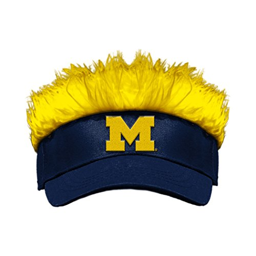 The Northwest Company Officially Licensed NCAA Michigan Wolverines Flair Hair Visor (Michigan Wolverines Team Visor)