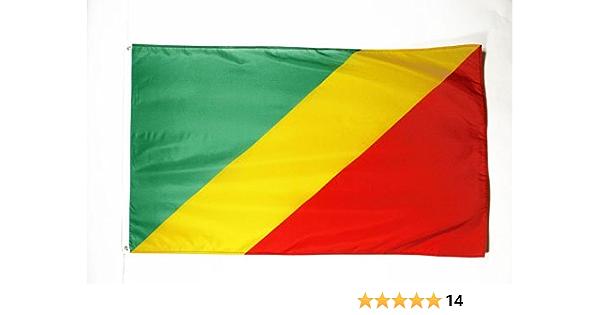 AZ FLAG Bandera de la REPÚBLICA del Congo 150x90cm - Bandera CONGOLEÑO 90 x 150 cm: Amazon.es: Hogar