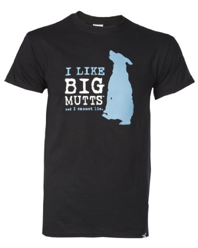 """I Like Big Mutts... and I Cannot Lie."" Men's/Unisex Black T-shirt (Unisex Extra Large)"