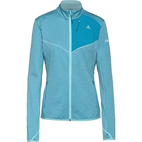 Schöffel Damen Fleece Jacket Houston1 warme und Bequeme Fleecejacke für Frauen, schnell trocknende Jacke mit Daumenschlaufen und Taschen
