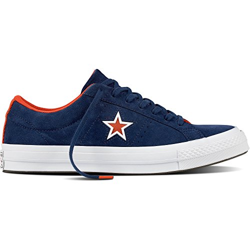 Converse One Star Navy Suede Trainers Navy
