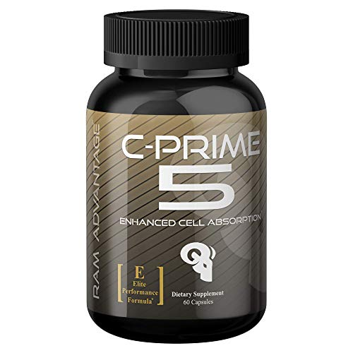 Superior Nutrient Partitioner for Lean Muscle Growth C-Prime 5 by RAM ADVANTAGE Glucose Disposal, Increased Strength, Lean Muscle Mass and Extreme Vascularity 60 ct