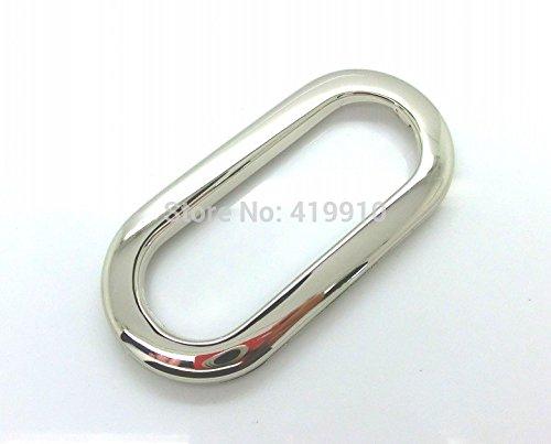 - 10 Sets Silver Tone Purse/handbags Insertion Component Metal Oval Handle 10.9x5.2cm