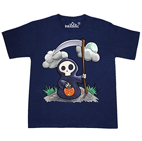 inktastic - Halloween Trick or Treating Youth T-Shirt Youth Small (6-8) Navy]()