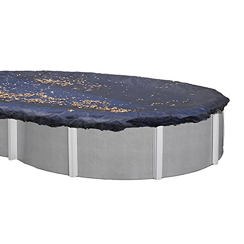 Swimline 15x30 ft. Oval Above Ground Winter Swimming Pool Cover, Black & Silver