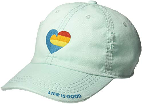 Life is Good Sunwashed Chill Cap Baseball Hat Collection,Bermuda Blue (Style Cap Baseball)
