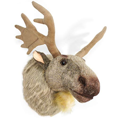 Moose Trophy Antler - VIAHART Muscovy The Moose | 24 Inch (with Antlers) Stuffed Animal Plush Head Trophy Wall Mount Bust | Shipping from Texas | by Tiger Tale Toys