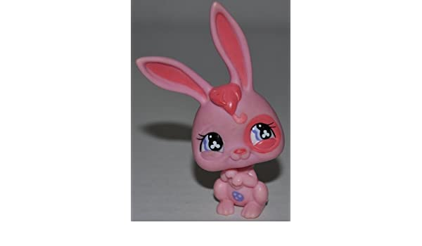 Rabbit #1144 OOP Out of Package /& Print Collector Toy - Littlest Pet Shop Retired Loose LPS Collectible Replacement Single Figure Blue, Pink Eyes