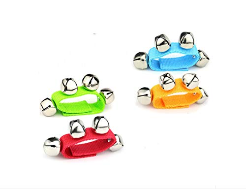 Lyhbsell 4pcs Wrist Foot Bell Instrument Percussion Orchestra ()
