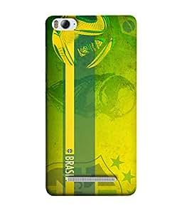 ColorKing Football Brazil 18 Green shell case cover for Xiaomi Redmi 4A