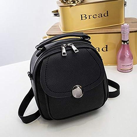 817f51d1aa26 Amazon.com  2018 Korea Women PU Leather Backpack Female Small ...