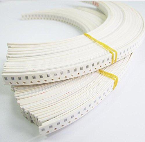 Kit de muestra de las bolsas de Muestre LILIERS 2012 0805 SMD Resistor Kit Surtido Kit 10ohm-1Mohm 1/% 81values 100 unids = 8100 unids