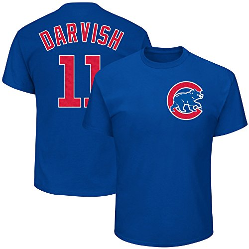 Outerstuff Yu Darvish Chicago Cubs #11 Youth Player Name & Number T-Shirt Blue (Youth Large 14/16)