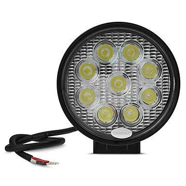 CARCHET 9LEDs High Power Fog Backup Car Light Bulb 27W 2090lm 6000K ( Light Source Color : White )