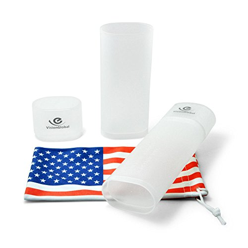 2Pcs Lightweight Hard Glasses Case, Protective Case for Glasses and Sunglasses,with Microfiber - Glasses Sunglasses Hard Protective