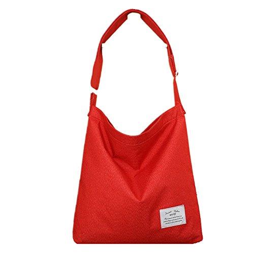 Casual Red Shopping Hobo Crossbody Canvas Bag Bag ZIIPOR Bag Women's Bag Shoulder 86C8wZq
