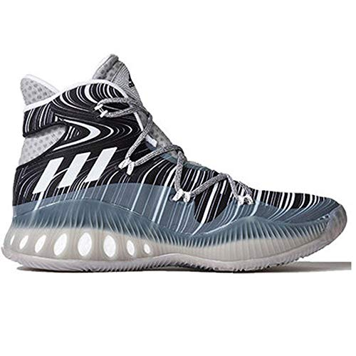 adidas Men's Shoes | Crazy Explosive Basketball, MGH Solid Grey/White/Black 1, (11 M US)