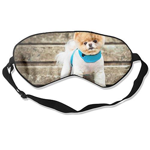 Silk Sleeping Mask Eye Boo The Cutest Dog Lightweight Soft Adjustable Strap Blindfold For Night's Sleep Nap Travel Eyeshade Men And -