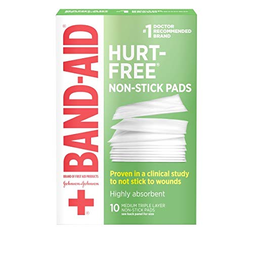 Band-Aid Brand Adhesive Bandages, Medium Non-Stick Pads, 2-Inch X 3-Inch Pads, 10 count (Pack of - Pads 3 Inch Adhesive