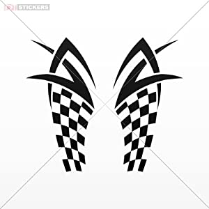 Amazoncom Decal Vinyl Stickers Race Design Car Window Motorcycle - Vinyl stickers for motorcycle helmets