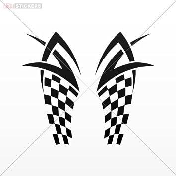 Amazoncom Decal Vinyl Stickers Race Design Car Window Motorcycle - Vinyl stickers design