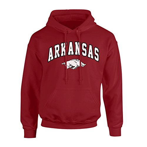 Arkansas Razorbacks Arch - Elite Fan Shop Arkansas Razorbacks Hooded Sweatshirt Arch Cardinal - M