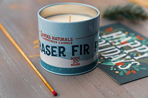 Santa's Naturals Fraser Fir Christmas Candle | Fresh Cut Christmas Tree Fragrance | Made with a Soy/Beeswax Blend | 30… - CHRISTMAS TREE SCENT: Notes of Fraser Fir and Cedarwood create a nostalgic scent of a fresh-cut Christmas tree in your home INGREDIENTS: Soy Wax, Beeswax, Plant Based Essential Oils, and Premium Fragrance Oils LONG-LASTING: Enjoy up to 30 hours of burn time with our 9oz Fraser Fir Candles - living-room-decor, living-room, candles - 41Ce2npqTWL -