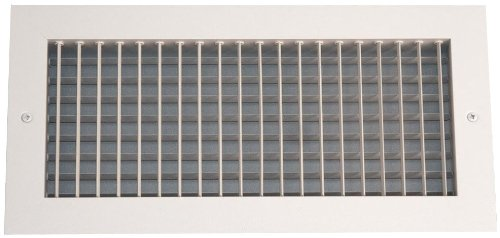 Speedi-Grille SGA-814 AMD 8-Inch by 14-Inch Soft White Aluminum Ceiling or Wall Register with Adjustable Multi Deflection Diffuser