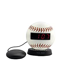 Sonic Alert The Sonic Glow Extra Loud Alarm Clock with Recordable Alarm (red)