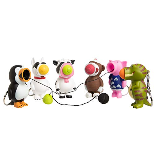 Hog Wild (Set Of 6) Ball Popper Toy Squeeze Push Balls Pop Keychain Party Favors For Kids Toys Adults