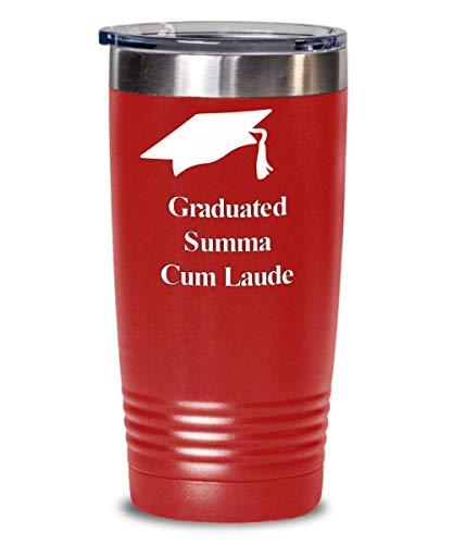 I graduated mug graduate graduation hat cap gift idea for boy girl - 20 oz insulated tumbler -
