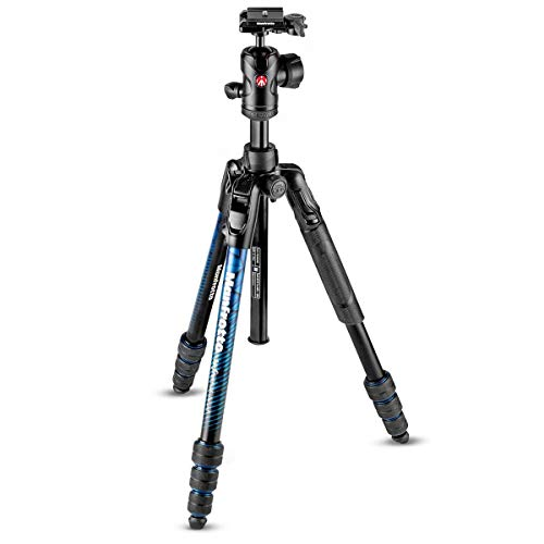 Manfrotto BeFree Advanced 59-inch Aluminum Travel Tripod with Ball Head & Case (Blue)