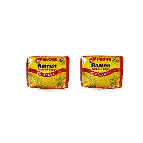 Ramen Noodles Inspired Earrings Instant Noodles Earrings Food Earrings Stud Earrings Funny Earrings College Food